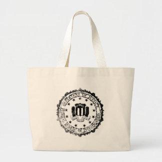 FBI Rubber Stamp Jumbo Tote Bag