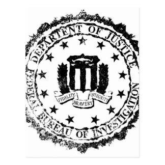 FBI Rubber Stamp Postcard