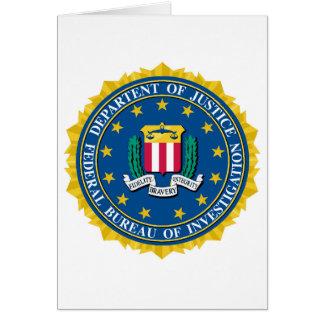 FBI Seal Greeting Card