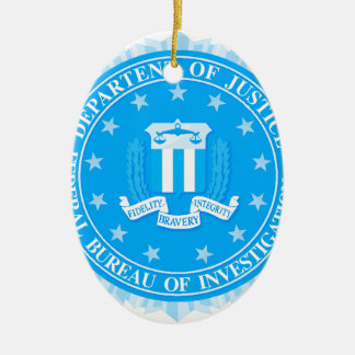 FBI Seal In Blue Ceramic Oval Decoration