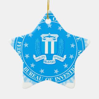 FBI Seal In Blue Ceramic Star Decoration