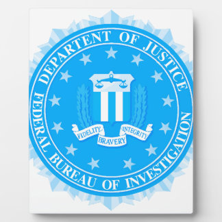 FBI Seal In Blue Display Plaque