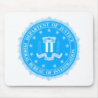 FBI Seal In Blue Mouse Pad