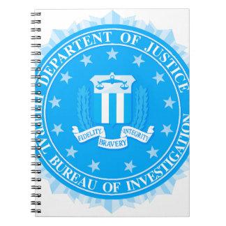 FBI Seal In Blue Notebooks