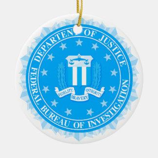 FBI Seal In Blue Round Ceramic Decoration