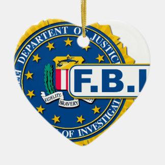 FBI Seal Mockup Ceramic Heart Decoration