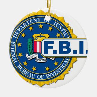 FBI Seal Mockup Round Ceramic Decoration