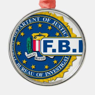 FBI Seal Mockup Silver-Colored Round Decoration