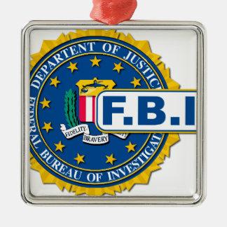 FBI Seal Mockup Silver-Colored Square Decoration