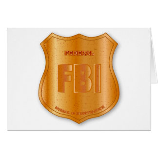 FBI Spoof Shield Badge Card