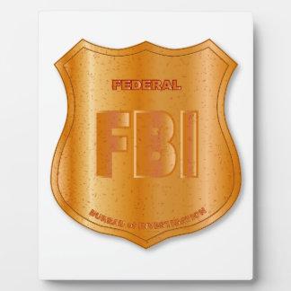 FBI Spoof Shield Badge Display Plaque