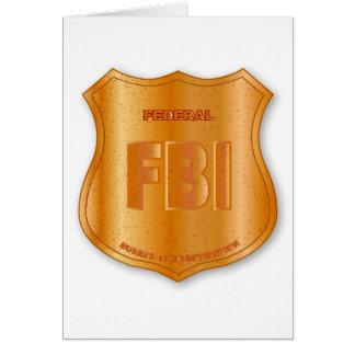 FBI Spoof Shield Badge Greeting Card