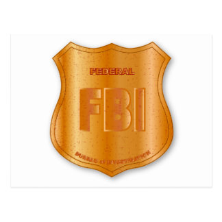 FBI Spoof Shield Badge Postcard