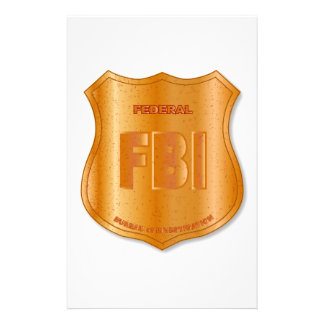 FBI Spoof Shield Badge Stationery Paper