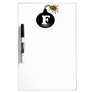 FBomb Classic Dry-Erase Board