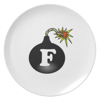 FBomb Classic Party Plates
