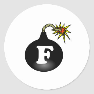 FBomb Classic Round Sticker