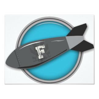 """FBomb 4.25"""" X 5.5"""" Invitation Card"""