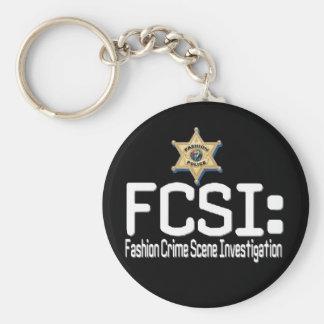 FCSI:  Fashion Crime Scene Investigation Basic Round Button Key Ring