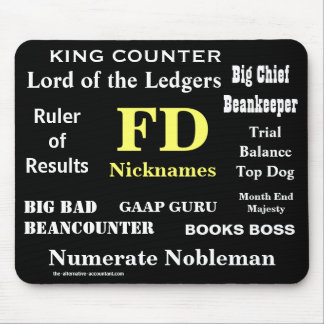 FD Nicknames Funny Finance Director Names Mouse Mat