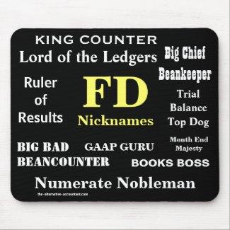 FD Nicknames Funny Finance Director Names mousepad