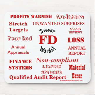FD Swear Words - Rude Finance Director Mousemat