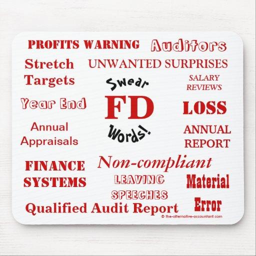 FD Swear Words - Rude Finance Director Mousemat