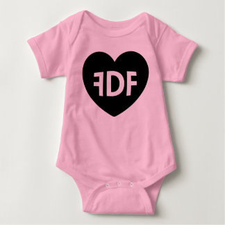 FDF Heart and Wings Pink Baby Thing Baby Bodysuit
