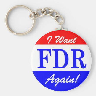 FDR - America's Greatest President Tribute Basic Round Button Key Ring