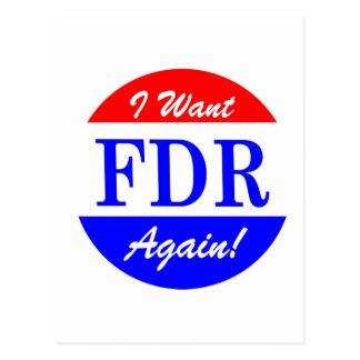 FDR - America's Greatest President Tribute Postcard