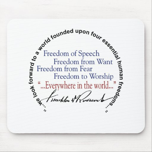 FDR Four Freedoms Tribute Mousepads