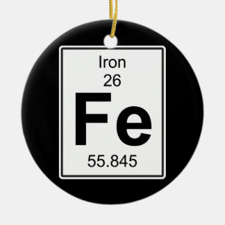 Fe - Iron Christmas Ornament