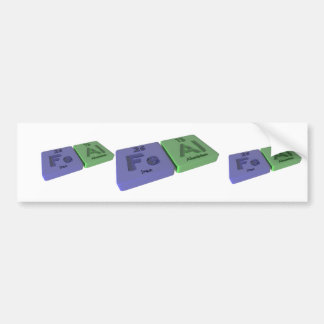 Feal as Fe Iron and Al Aluminium Bumper Stickers