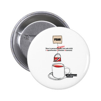 FEAR AFTER COZIER PINBACK BUTTONS