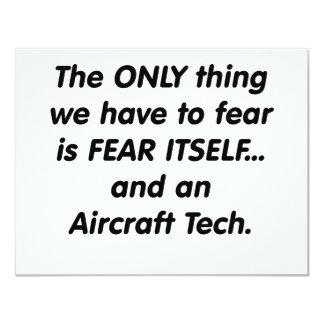fear aircraft tech 11 cm x 14 cm invitation card