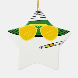 Fear and Loathing In Las Vegas Raoul Duke Ceramic Star Decoration
