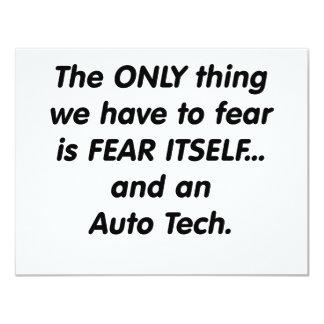 Fear auto tech 11 cm x 14 cm invitation card