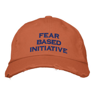 fear based initiative embroidered baseball cap