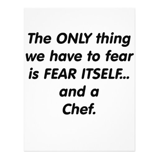 fear chef personalized flyer