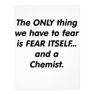 Fear chemist personalized flyer