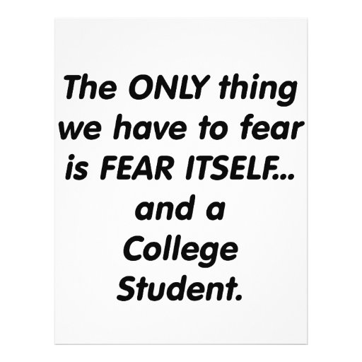fear college student flyers