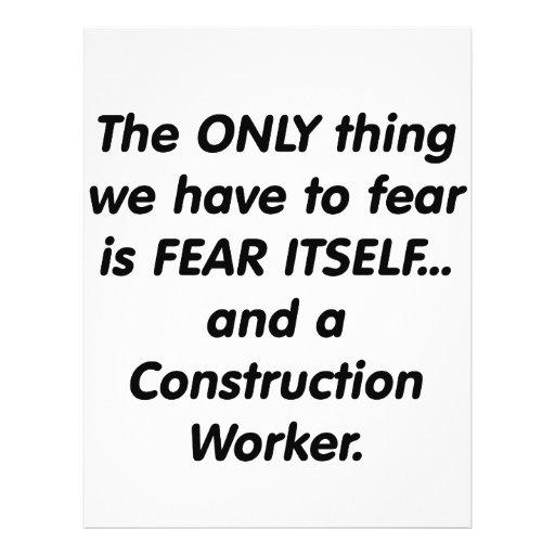 Fear Construction Worker Flyer