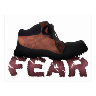 FEAR Crushed by Boot - Multiple Products Postcard