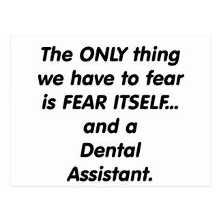 Fear Dental Assistant Postcard