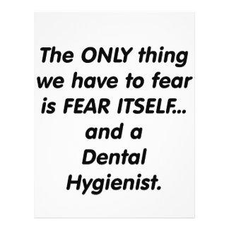 fear dental hygienist 21.5 cm x 28 cm flyer