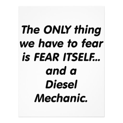 Fear diesel mechanic full color flyer