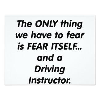 fear driving instructor 11 cm x 14 cm invitation card
