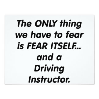 fear driving instructor personalized invitation