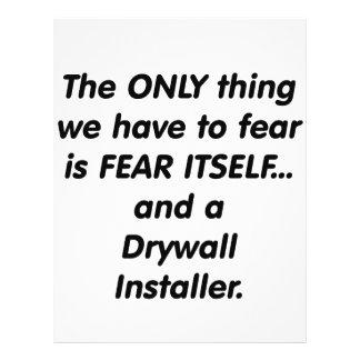 Fear Drywall Installer 21.5 Cm X 28 Cm Flyer