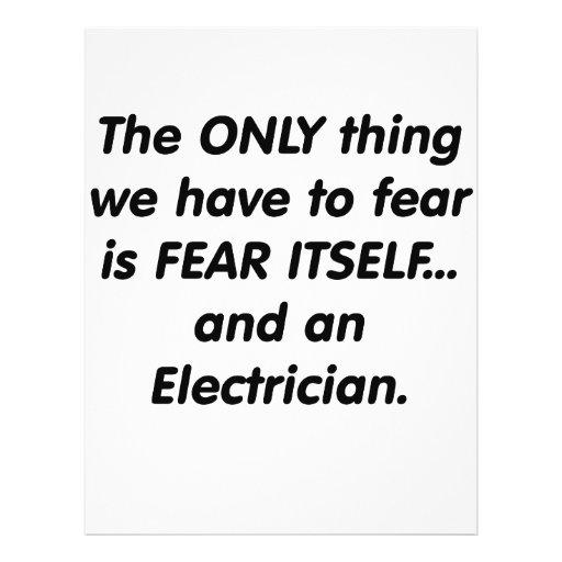 Fear electrician flyer